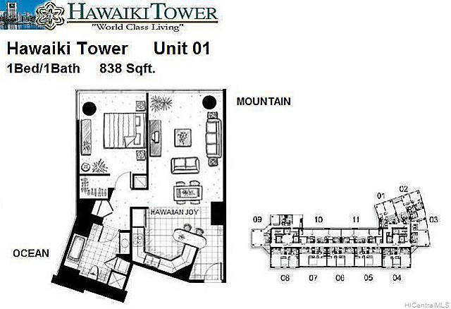 Hawaiki Tower condo # 2701, Honolulu, Hawaii - photo 8 of 8