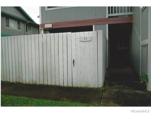MTA townhouse # 45, Mililani, Hawaii - photo 1 of 9